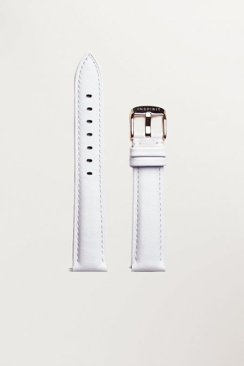 Minimalist White Leather