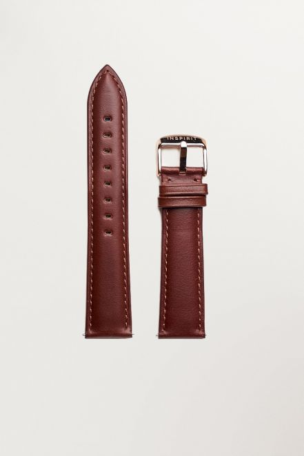 Chrono Brown Leather RGB Strap
